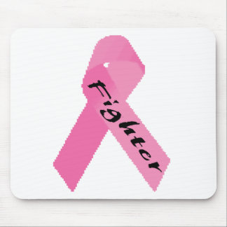 Fighter Pink Ribbon Design Mousepads