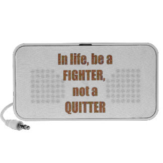FIGHTER  Quitter Quote Wisdom TEMPLATE  holidays Notebook Speaker