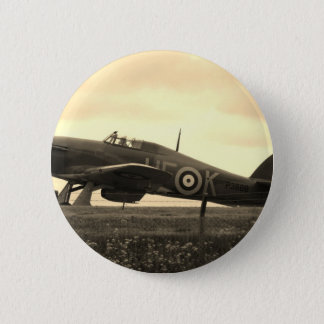 Fighter Scrambled For Take Off 6 Cm Round Badge