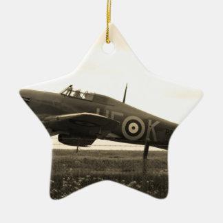 Fighter Scrambled For Take Off Ceramic Star Decoration
