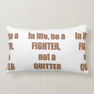 FIGHTER vs Quitter TEMPLATE Resellers Welcome GIFT Throw Pillow