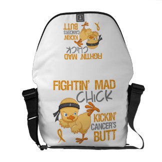 Fightin Chick Appendix Cancer Courier Bag