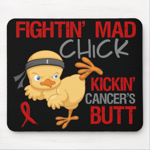 Fightin Chick Blood Cancer Mousepads