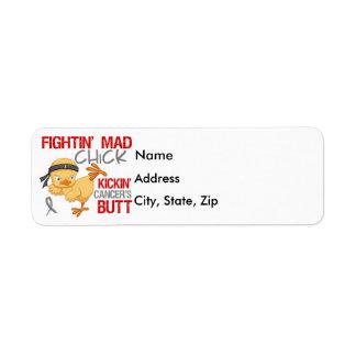 Fightin Chick Brain Cancer Return Address Label