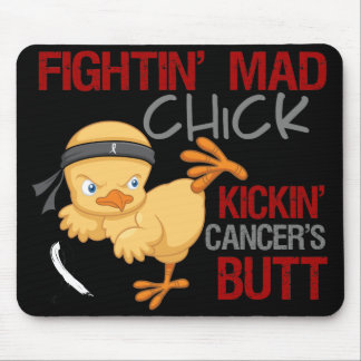 Fightin Chick Carcinoid Cancer Mouse Pads