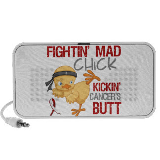 Fightin Chick Head Neck Cancer Travel Speakers