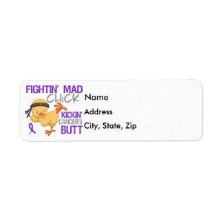 Fightin Chick Pancreatic Cancer Return Address Label