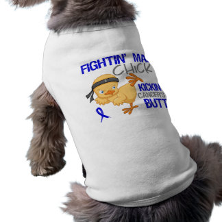 Fightin Chick Rectal Cancer Sleeveless Dog Shirt