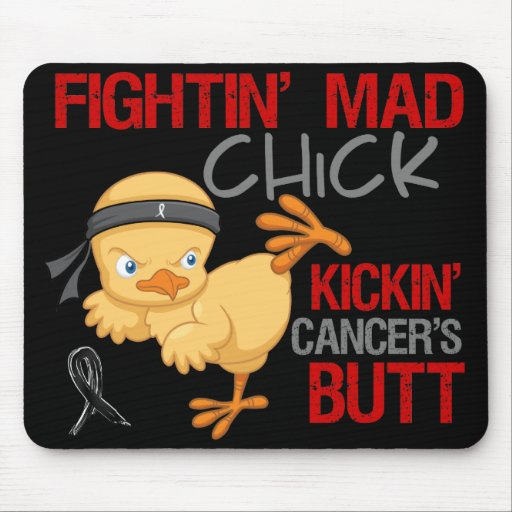 Fightin Chick Skin Cancer Mousepad