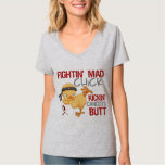 Fightin Chick Throat Cancer Tshirts