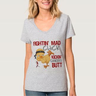 Fightin Chick Throat Cancer Tshirts