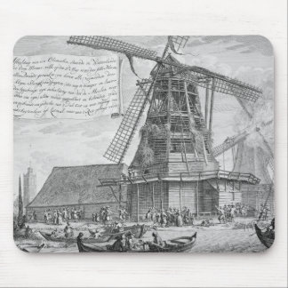 Fighting a fire in a windmill near Worden, from a Mouse Mat