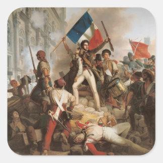 Fighting at the Hotel de Ville Square Sticker