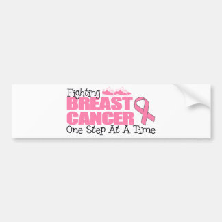 Fighting Breast Cancer One Step At A Time Bumper Sticker