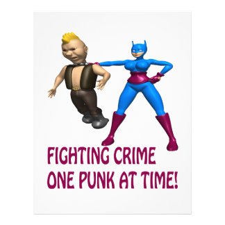Fighting Crime One Punk At A Time Full Color Flyer