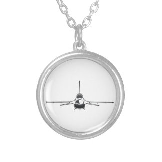 Fighting Falcon Silver Plated Necklace