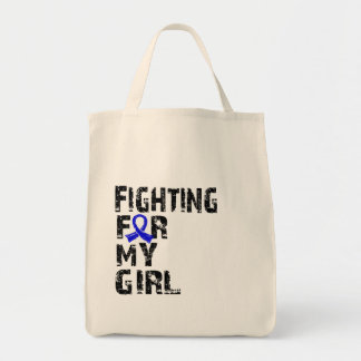 Fighting For My Girl Colon Cancer 21 Canvas Bag