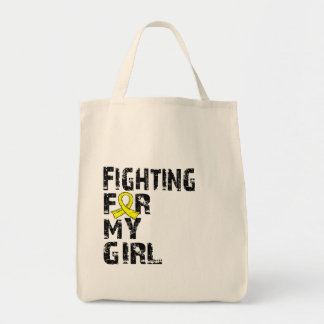 Fighting For My Girl Endometriosis 21 Tote Bags