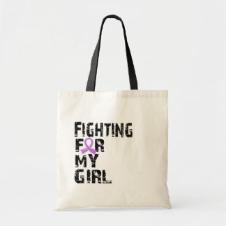 Fighting For My Girl General Cancer 21 Canvas Bags