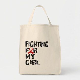 Fighting For My Girl Heart Disease 21 Canvas Bag
