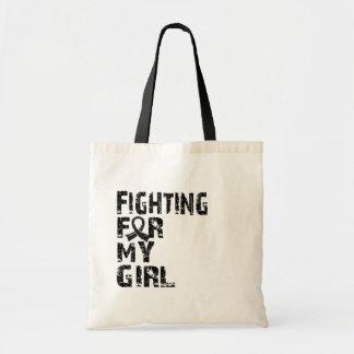 Fighting For My Girl Melanoma 21 Canvas Bag