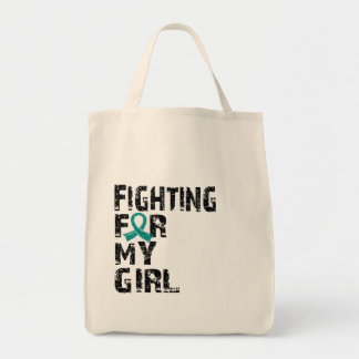 Fighting For My Girl Ovarian Cancer 21 Tote Bag