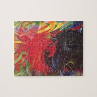 Fighting Forms (Kämpfende Formen) by Franz Marc Jigsaw Puzzles