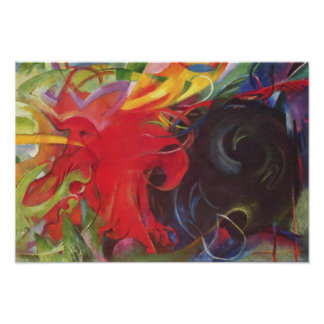 Fighting Forms (Kämpfende Formen) by Franz Marc Poster