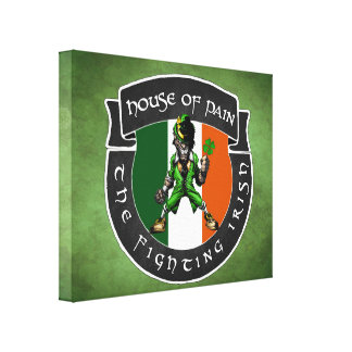 fighting irish stretched canvas prints