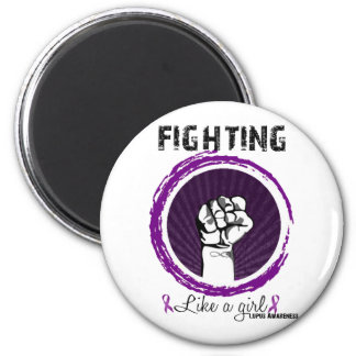 Fighting Like A Girl Lupus Awareness Fridge Magnet