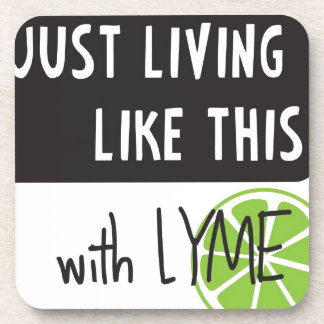 Fighting LYME disease Drink Coasters