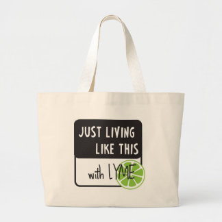 Fighting LYME disease Canvas Bag