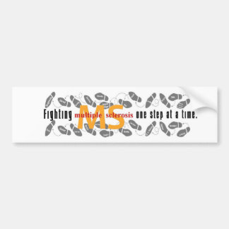 Fighting MS One Step At A Time Bumper Sticker