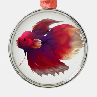 Fighting Paper Fish Christmas Ornament