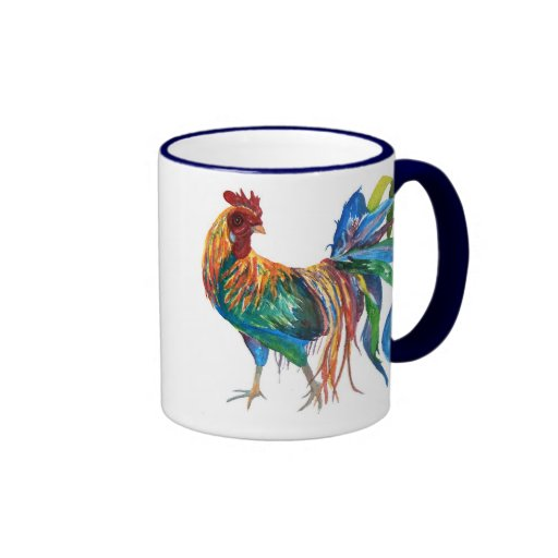 Fighting Rooster Ringer Coffee Mug