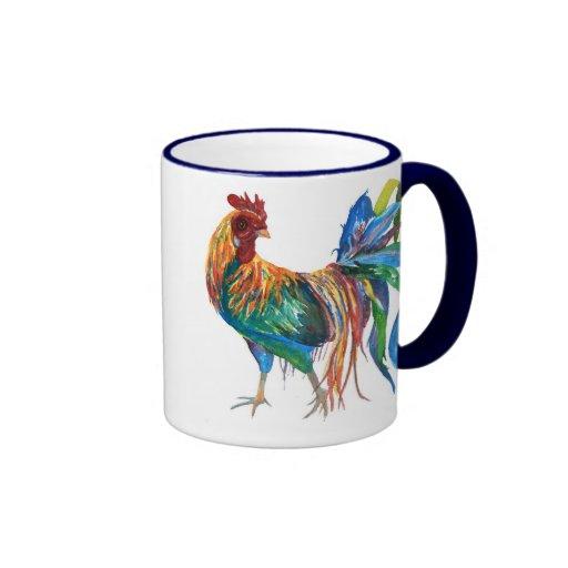 Fighting Rooster Ringer Mug