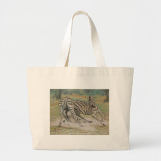 Fighting Zebras Tote Bags