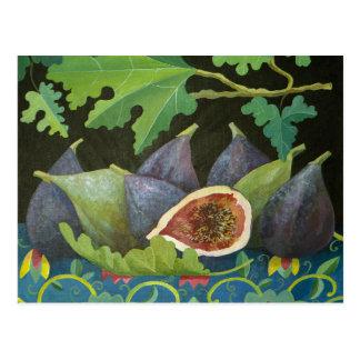 Figs on black 2014 postcard