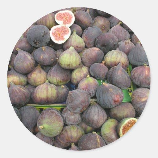 Figs Round Stickers