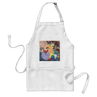 Figure and a rooster by rafi talby standard apron