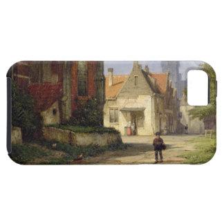 Figure before a Redbrick Church in a Dutch Town (o iPhone 5 Covers