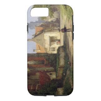 Figure before a Redbrick Church in a Dutch Town (o iPhone 7 Case