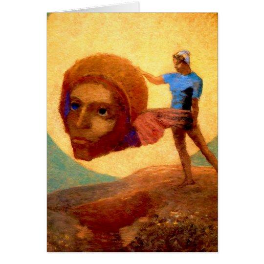 Figure by Odilon Redon Card
