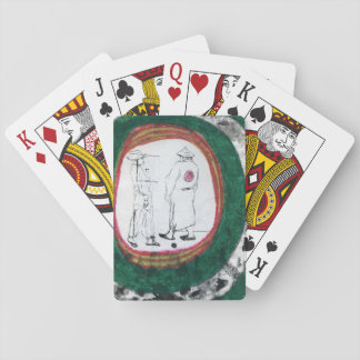 Figure Drawing with Costumes Playing Cards