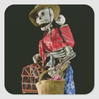 Figure for The Day of the Dead Square Sticker