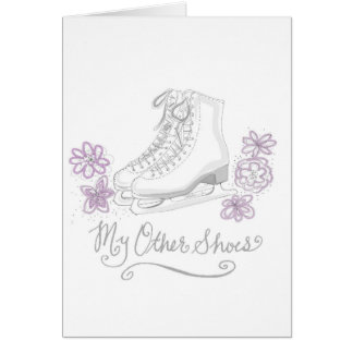 Figure Ice skating Birthday Greeting Card