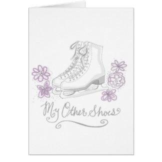 Figure Ice skating Birthday Greeting Card