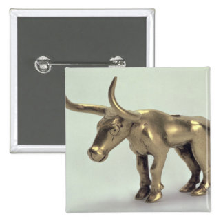 Figure of a bull 15 cm square badge