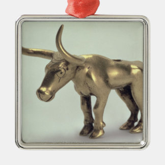Figure of a bull christmas ornament