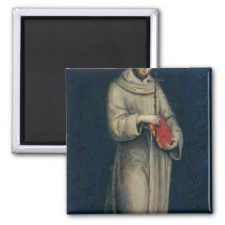 Figure of a Franciscan Monk Square Magnet